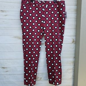 NWT Eloquii cotton stretch pant 20 floral cropped